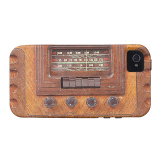 Radio de Woodenl del vintage iPhone 4/4S Fundas