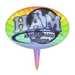 Radio del aficionado del LOGOTIPO del MUNDO del JA Decoraciones Para Tartas