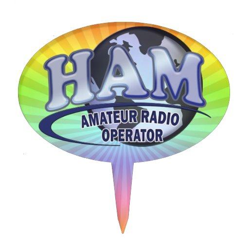 Radio del aficionado del LOGOTIPO del MUNDO del JA Figura Para Tarta
