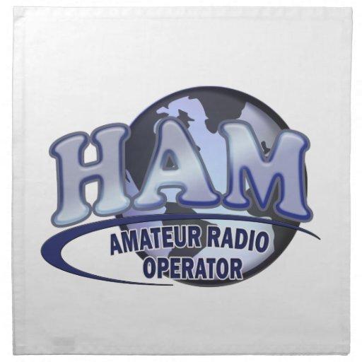 Radio del aficionado del LOGOTIPO del MUNDO del JA Servilleta Imprimida