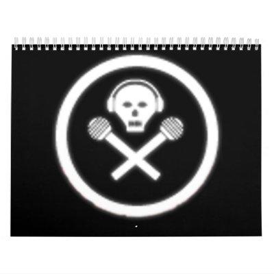 Radio del agujero de Bunneh Calendarios De Pared