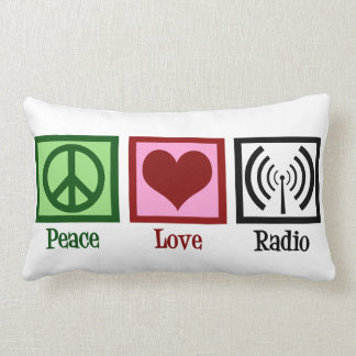 Radio del amor de la paz almohadas