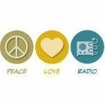 Radio del amor de la paz escultura fotográfica