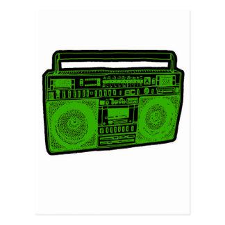 radio del arenador del ghetto del boombox postales