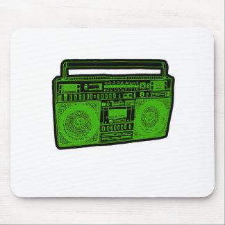 radio del arenador del ghetto del boombox mousepad