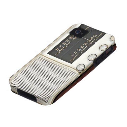 Radio del metal del vintage Case-Mate iPhone 4 funda