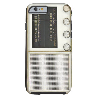 Radio del metal del vintage funda de iPhone 6 tough