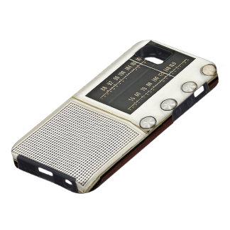 Radio del metal del vintage funda para iPhone 5 tough