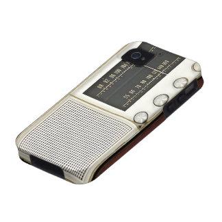 Radio del metal del vintage iPhone 4 fundas