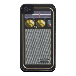 radio del PDA del viejo estilo iPhone 4 Case-Mate Fundas