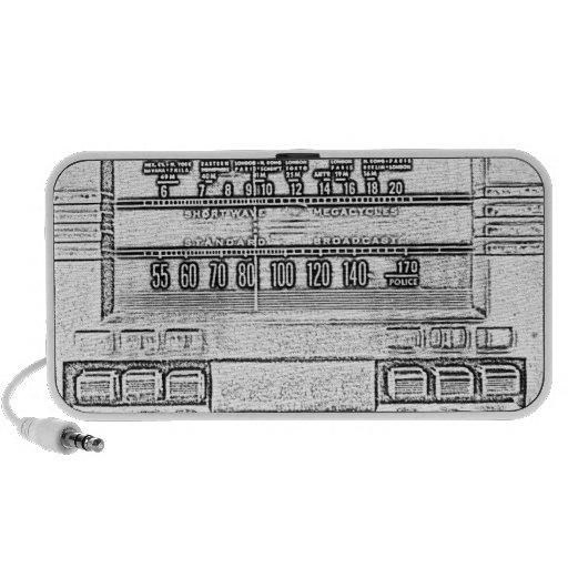 Radio del vintage altavoces de viaje