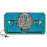 Radio del vintage - azul clara iPod altavoz