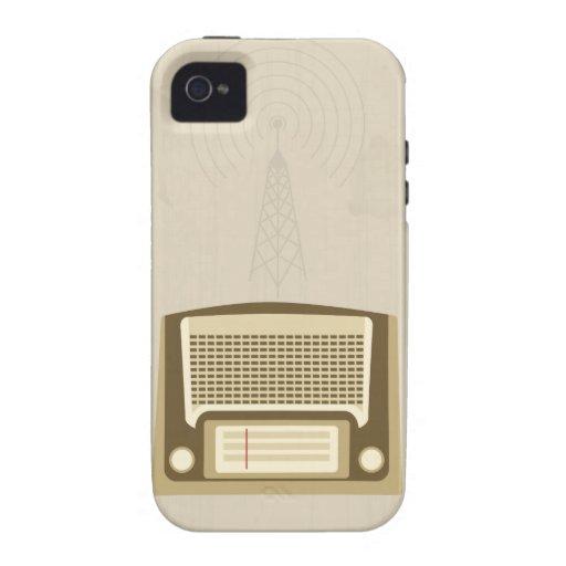 Radio del vintage Case-Mate iPhone 4 funda