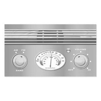 Radio del vintage del cromo tarjetas de visita