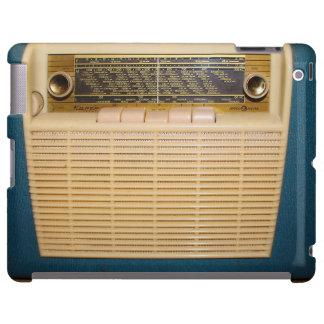 Radio del vintage en el azul - caso del iPad