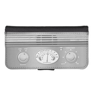 Radio del vintage funda billetera para teléfono