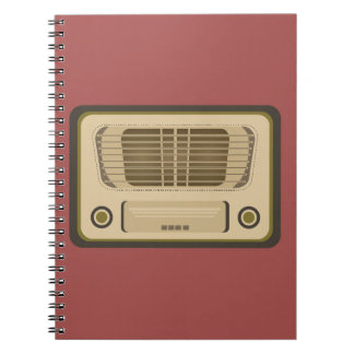 Radio del vintage libros de apuntes