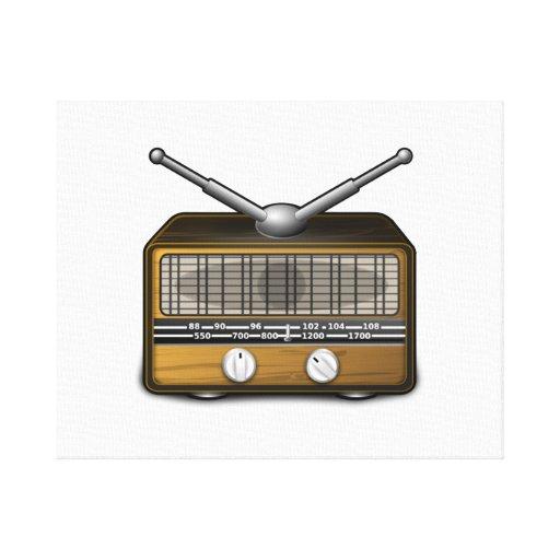 Radio del vintage lona envuelta para galerías
