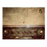 Radio del vintage postal