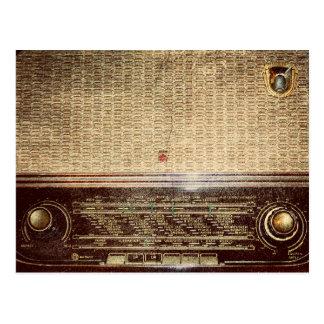Radio del vintage postales