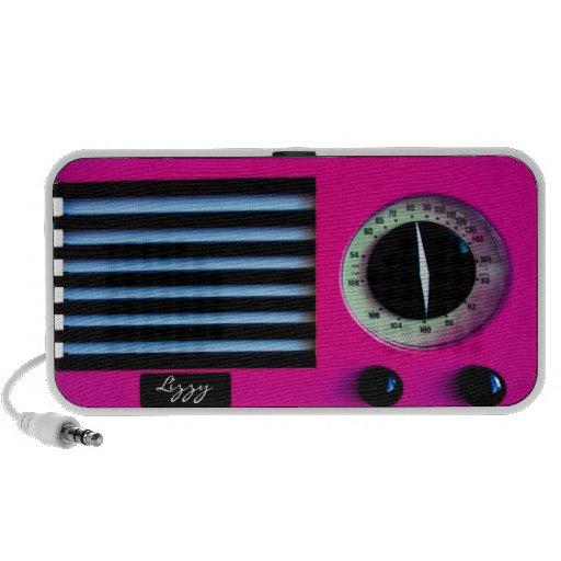 Radio del vintage - rosa sistema altavoz