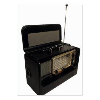 Radio del vintage tarjetas de negocios