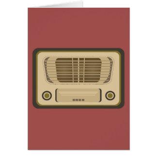 Radio del vintage tarjeta de felicitación