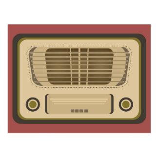 Radio del vintage tarjeta postal