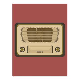 Radio del vintage tarjetas postales