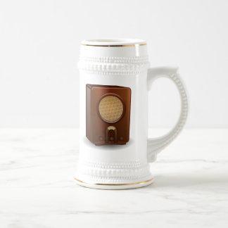 Radio del vintage jarra de cerveza