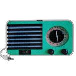 Radio del vintage - turquesa mini altavoces
