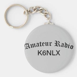 Radio e indicativo aficionados llavero redondo tipo pin