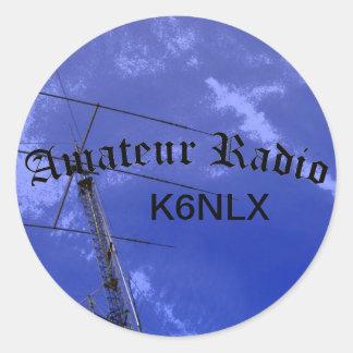 Radio e indicativo aficionados etiquetas