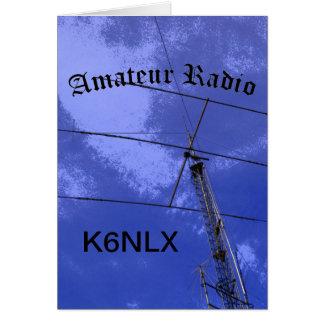 Radio e indicativo aficionados tarjeton