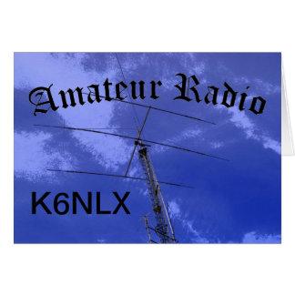 Radio e indicativo aficionados felicitación