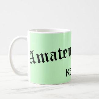 Radio e indicativo aficionados tazas de café