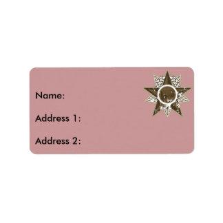 Radio en estrella etiqueta de dirección