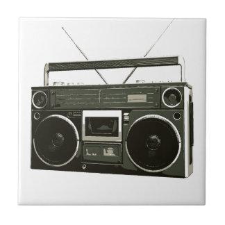 Radio estéreo de Boombox Azulejo Cuadrado Pequeño