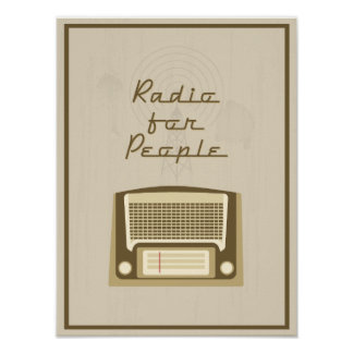 Radio for people poster