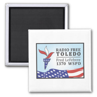 Radio Free Fred Fridge Magnets