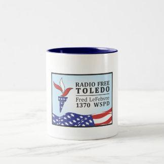 Radio Free Fred Two-Tone Coffee Mug