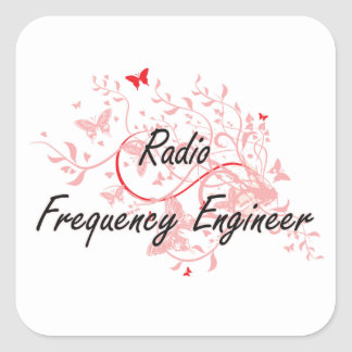 Radio Frequency Engineer Artistic Job Design with Square Sticker