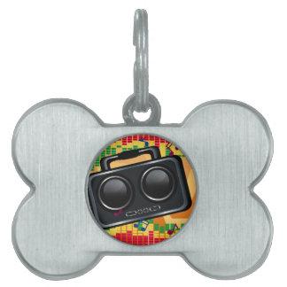 Radio Groove Pet Name Tag