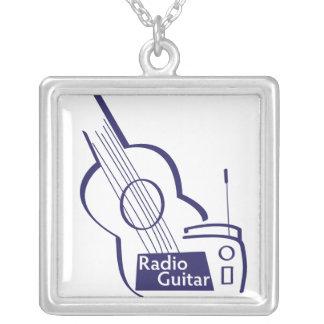 Radio Guitar 2011 Design Square Pendant Necklace