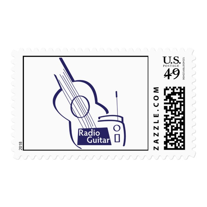 Radio Guitar Postage Stamp