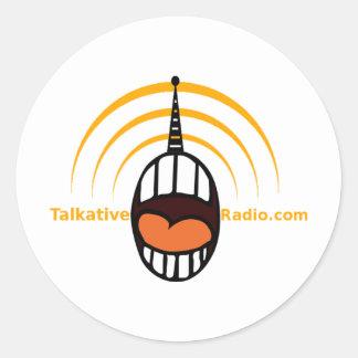 Radio habladora pegatina redonda