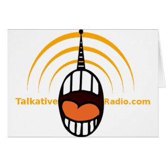 Radio habladora tarjeta de felicitación