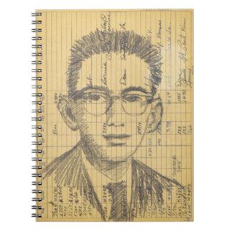 Radio Head #2 Graphite Pencil Ham Radio Log Book
