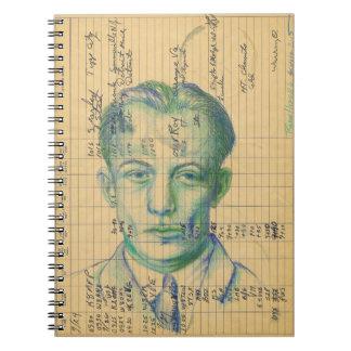 Radio Head #6 Colored Pencil Ham Radio Log Book