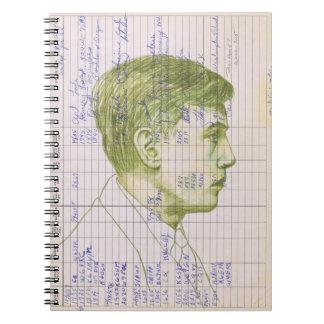 Radio Head #7 Colored Pencil Ham Radio Log Book